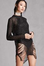 Forever21 Metallic Open-knit Sweater