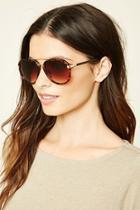 Forever21 Tortoiseshell Aviator Sunglasses