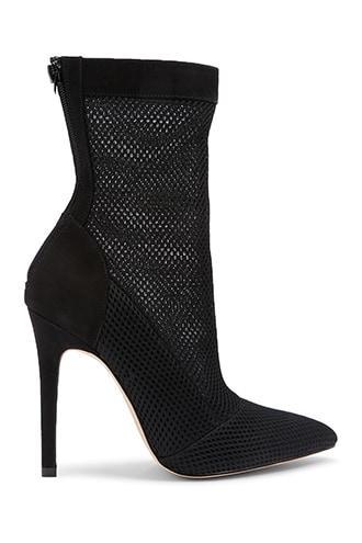 Forever21 Mesh Stiletto Sock Booties