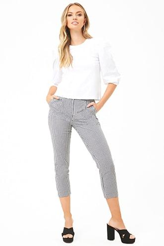 Forever21 Gingham Pleat Pants