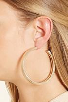 Forever21 Spiral Etched Hoop Earrings