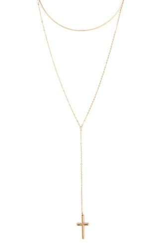 Forever21 Cross Pendant Layered Necklace