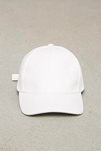 Forever21 Faux Leather Baseball Cap
