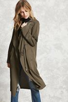 Forever21 Contemporary Hooded Coat