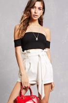 Forever21 Ruffle-waist Belted Shorts
