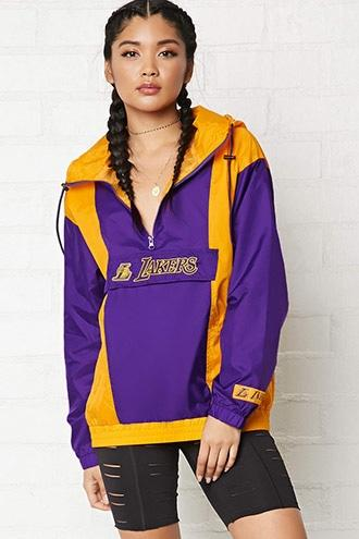 Forever21 Nba Lakers Anorak Jacket