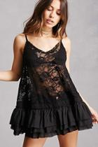 Forever21 Sheer Chantilly Lace Tunic