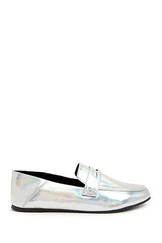 Forever21 Iridescent Penny Loafers