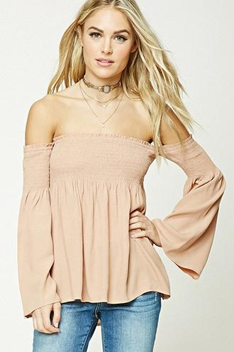 Forever21 Contemporary Smocked Top