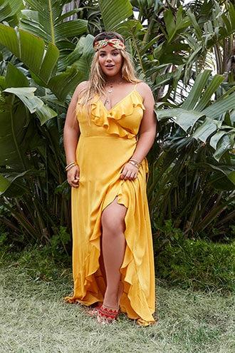 Forever21 Plus Size Satin Wrap Dress