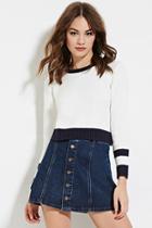 Forever21 Varsity Striped Sweater