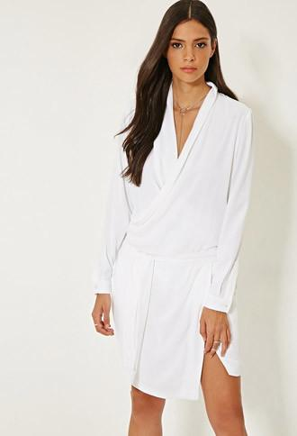 Forever21 Mlm Surplice Wrap-front Dress