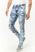 Forever21 Crysp Distressed Bleach Wash Jeans