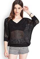 Forever21 Open-knit Dolman Sweater