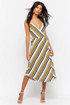 Forever21 Striped Mock Wrap Dress
