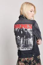 Forever21 Ramones Distressed Denim Jacket