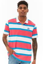 Forever21 Palm Tree Graphic Striped Polo