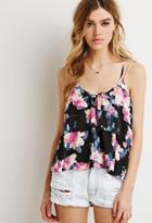 Forever21 Floral Print Flounce Cami