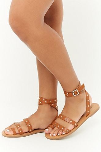 Forever21 Wraparound Studded Sandals