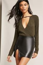 Forever21 Ribbed Surplice Top