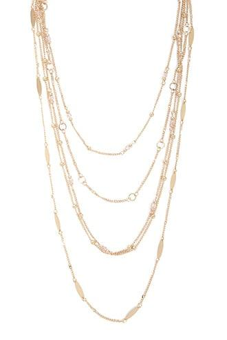 Forever21 Layered Link Chain Necklace