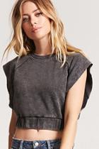 Forever21 Cropped Mineral Wash Tee