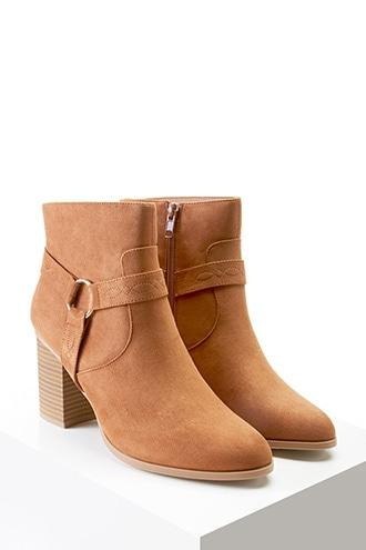 Forever21 Embroidered Faux Suede Boots