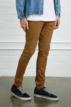 21 Men Men's  Taupe Slim-fit Jeans