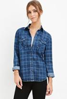 Forever21 Plaid Denim Shirt