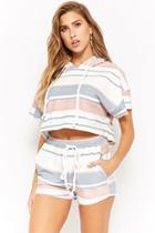 Forever21 Striped Top & Shorts Set