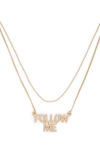 Forever21 Follow Me Pendant Necklace
