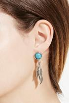 Forever21 Two-feather Drop Earrings