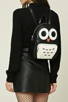 Forever21 Owl Faux Leather Mini Backpack