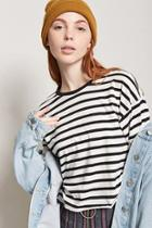 Forever21 Stripe Boxy Tee
