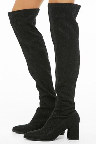 Forever21 Privileged Over-the-knee Sock Boots