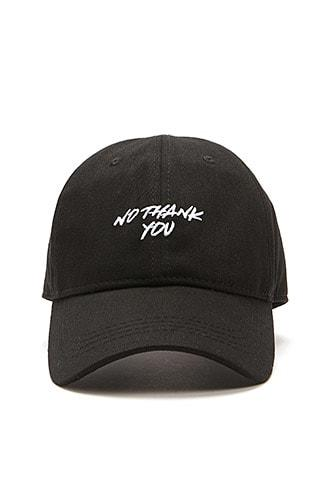 Forever21 No Thank You Graphic Dad Cap