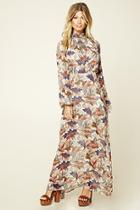Love21 Women's  Contemporary Foliage Maxi Dress