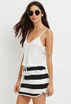 Forever21 Drawstring Striped Skirt