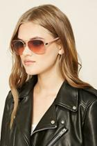 Forever21 Gold & Rose Gradient Aviator Sunglasses