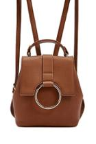 Forever21 O-ring Faux Leather Backpack