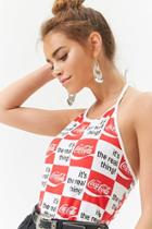 Forever21 Coca-cola Checkered Halter Top