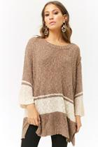 Forever21 Longline Open-knit Sweater