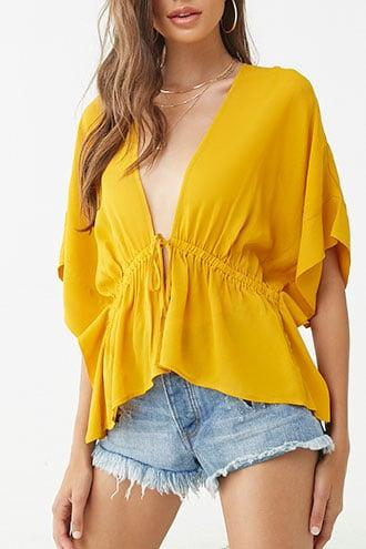 Forever21 Plunging Dolman-sleeve Top