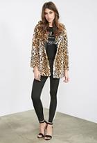Forever21 Leopard Faux Fur Coat