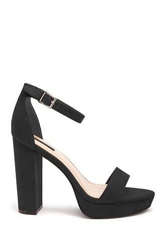 Forever21 Faux Suede Ankle-strap Platform Heels