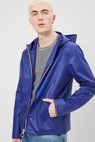Forever21 Hooded Zip-front Raincoat