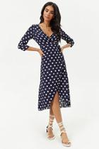 Forever21 Chiffon Polka Dot High-low Dress