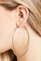Forever21 Oval Hoop Earrings
