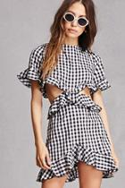 Forever21 Cutout Gingham Dress