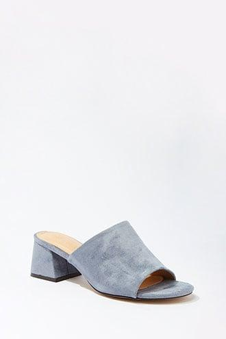 Forever21 Faux Suede Mule Block Heels